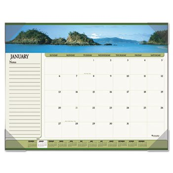 AT-A-GLANCE Visual Organizer Recycled Seascape Panoramic Desk Pad, 22 x 17 Inches, 2013 (89803-13)