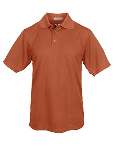 - Tenacity Polyester Golf Shirt, Burnt Orange, XL