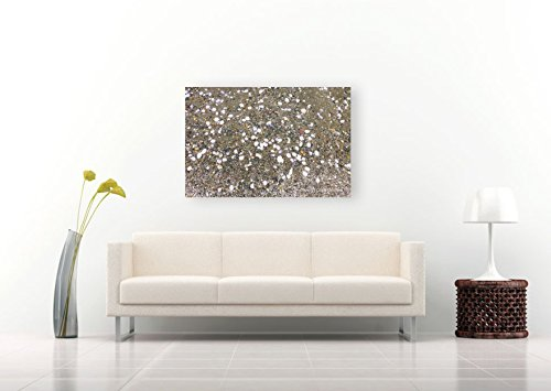 Gray Vivera Pigment Ink - Abstract Photo Seashore Print on CANVAS Sandy Beach Pointillism Large Neutral Wall Art Sea Shells Home Decor White Grey Sand Brown Gray Ready to Hang 8x10 8x12 11x14 12x18 16x20 16x24 20x30 24x36