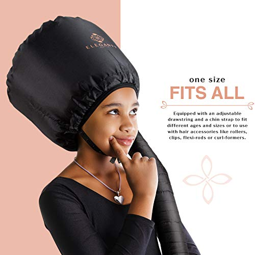 Eleganty Soft Bonnet Hood Hairdryer Attachment with Headband that Reduces Heat Around Ears and Neck to Enjoy Long Sessions - Used for Hair Styling, Deep Conditioning and Hair Drying