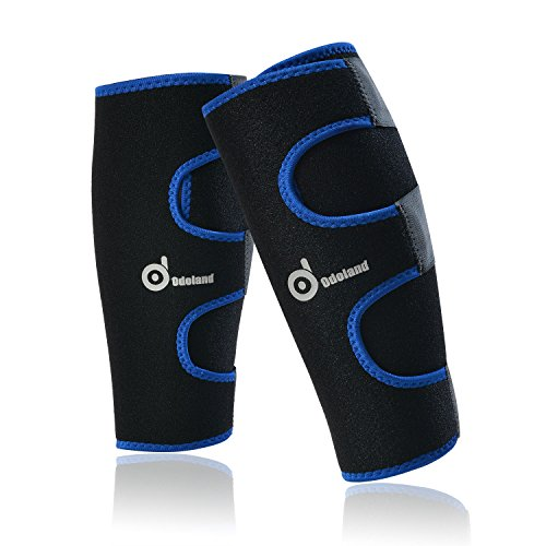 Pair of Calf Compression Sleeve - Universal Size Leg Compression Socks - Graduated Calf Pain Relief - Calf Guard Shin Splints Sleeves - for Running - Boosts Circulation