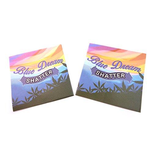 250 Premium Blue Dream Parchment Paper MMJ Terp Non Stick Extract Squares 4 x 4'' PP-049 by Shatter Labels