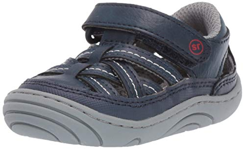 (Stride Rite baby-boy's Amos Sandal, navy 3.5 M US Infant)