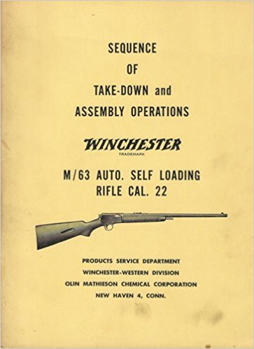 Winchester M/63 Auto. Self Loading Rifle Cal. 22 (Sequence of take-down and assembly operations)