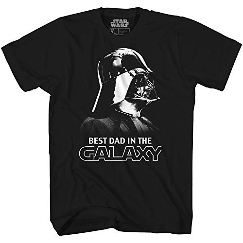 Star Wars Darth Vader Best Dad in The Galaxy T-Shirt (Small, Black) (Darth Vader Best Dad Shirt)