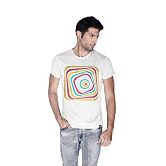 Creo Abstract 03 Retro T-Shirt For Men - S, White
