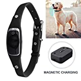 HUAXING Pet GPS Tracker,GSM/GPRS/GPS Pet Safety Tracker 1000 Mah USB Cable Rechargeable Pet Dog Security Fence,Black
