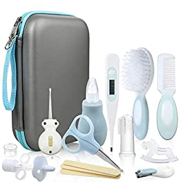 Lictin Baby Health Care Kit – Baby Grooming Kit Newborn Baby Care Accessories, 15PCS Safety Cutter Nail Care Set, Nursery Baby Care Kit for Infants Newborns (Blue)