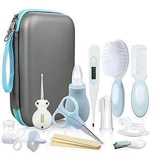 Lictin 15pcs Trousse de Soin Bébé Naissance Set de Toilette Bébé Confort sans BPA non Toxique Thermomètre/Lime à Ongles…
