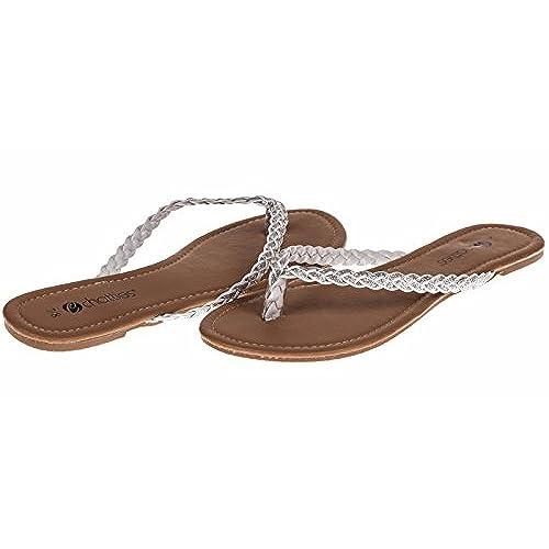 de4354218810 hot sale 2017 Chatties Braided Flip Flops-New Womens Spring Summer Flat Thong  Sandals