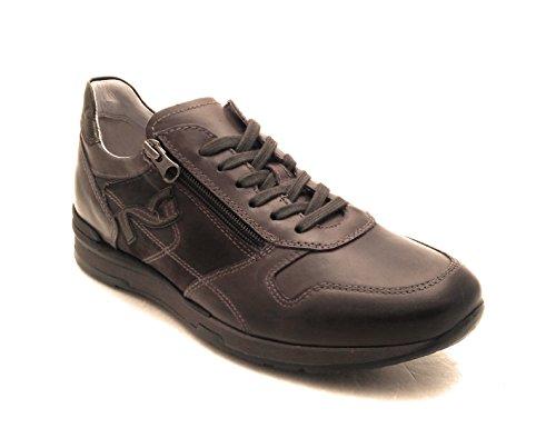 nero giardini Uomo Sneakers Grigio A705241U Scarpe in Pelle Inverno 2018