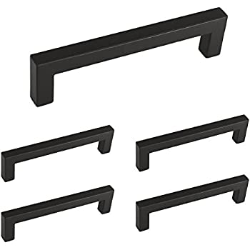 Charmant Homdiy Flat Black Modern Cabinet Handle Pull Furniture Door Square Bar  Knobs And Pull Handles