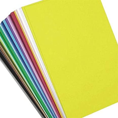 "Parties Classrooms Scouts 9/"" x 12/"" Per Sheet Assorted Fashion Colors 12 Sheets Per Pack Camps Darice Foamies Adhesive Back Foam Sheets Multipack Great for Craft Projects with Kids"