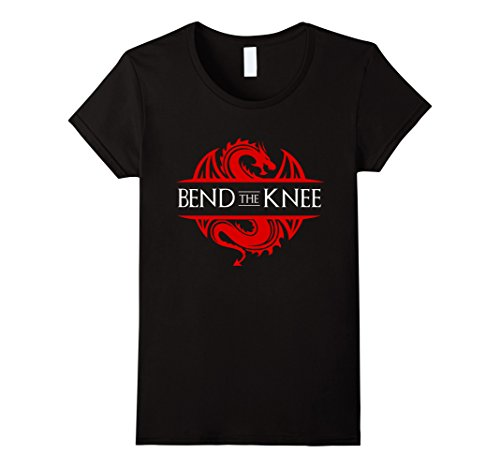 Womens Bend The Knee T-Shirt XL Black
