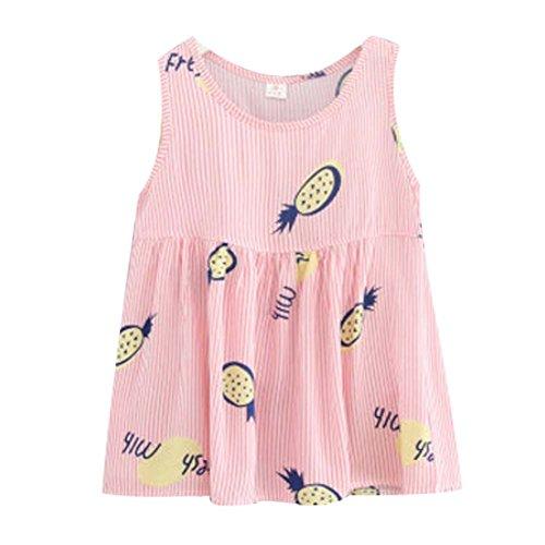 Koala Superstore [B] Kids' Pajama Home Nightdress Sleeveless Cotton Dress Vest Skirt for Girls by Koala Superstore