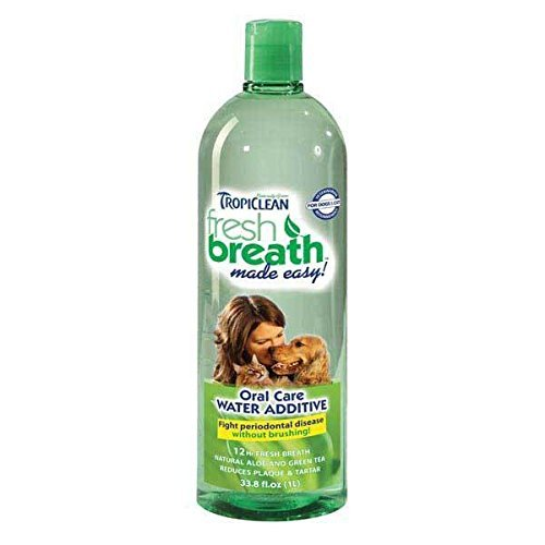 Pet Fresh Breath Water Additive Clean Dogs Teeth Gentle Formula - Choose Size (33.8 oz) (Liquid Freshener Breath)