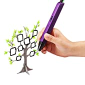 Soyan 3D Printing Pen for Kids, Suitable for Doodling, Art & Craft Making and 3D Modeling, with OLED Display (Purple)