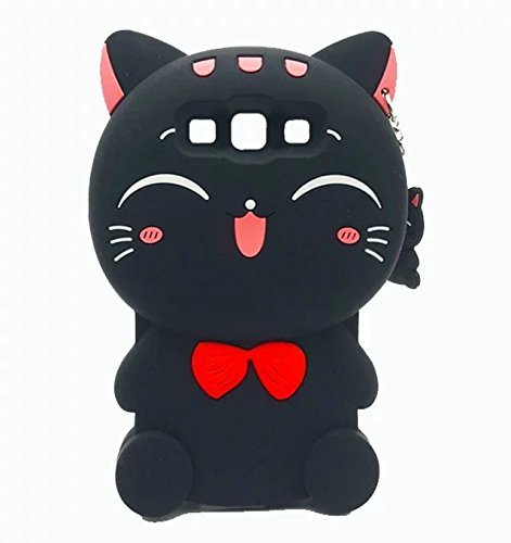 LG K20 V Case, LG K20 Plus Case, LG K10 2017 Case, LG LV5 Case, LG Harmony Case, Maoerdo Cute 3D Cartoon Cat Silicone Rubber Phone Case Cover for LG K20 Plus / K20 V / Harmony / LG LV5 / K10 2017