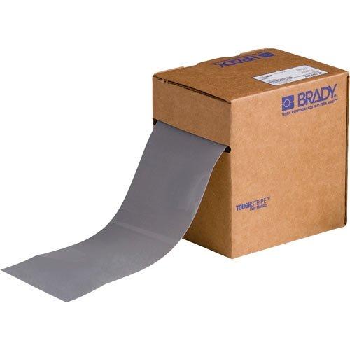 Brady 134094, 4'' x 100' Polyester ToughStripe Floor Marking Tape, Gray, 2 Rolls