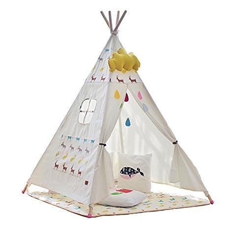 little dove Tipi gioco tenda indiano tenda tenda cameretta stanza dei giochi per bambini, 100% cotone naturale vela panno cls gmbh