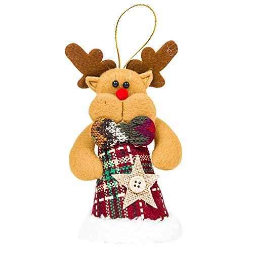 Brave669 Cute Santa Claus Snowman Deer Champagne Wine Bottle Mouth Cover Christmas Decor