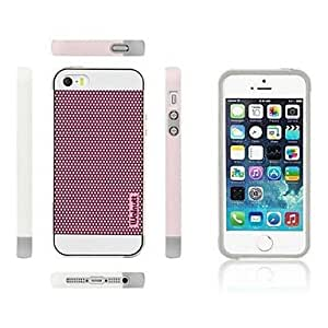 TOPQQ Walnutt? TPU+PC Soft Back Case with Football Ripple Points for iPhone 5/5S (Assorted Colors) , Black-Gray