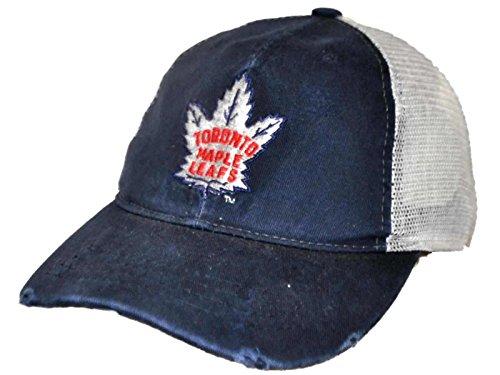 Toronto Maple Leafs Snap - Toronto Maple Leafs Retro Brand Navy Worn Mesh Vintage Adjustable Snap Hat Cap