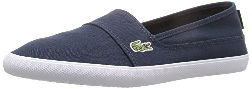 Lacoste Women's Marice Canvas Slip On, Navy Canvas, 9.5 M US