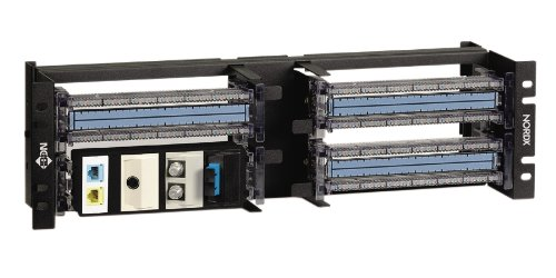 Belden / CDT - AX101986 - Gigabix Rack Mount Panel 19' Unloaded Accept 8 Bix Conn 3u Black Ax101986 19' Rackmount Panel