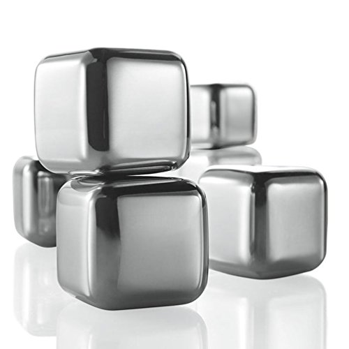 (Brookstone n'ICE Cubes Stainless Steel Drink Chillers)