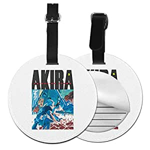 Akira Travel Leather Round Luggage Tags Suitcase Labels Bag