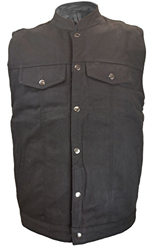 Mens Denim Patch Holder Vest Black 3XL