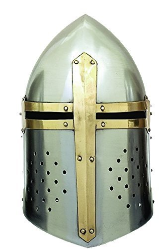 IOTC Armor Steel Sugarloaf Helmet, Chrome Silver