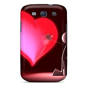 Cute High Quality Galaxy S3 3d Love Paint Cases