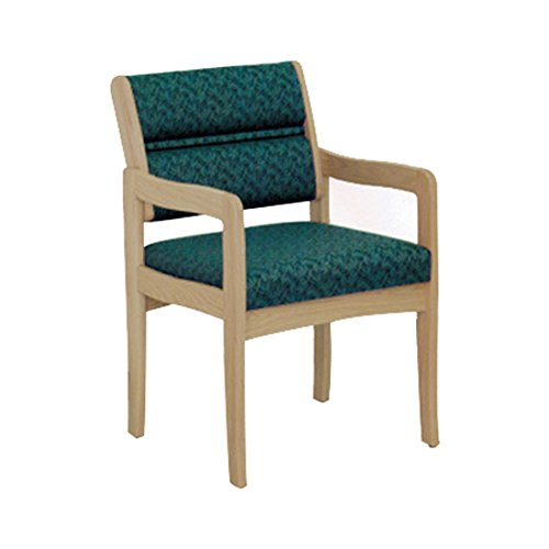 Wooden Mallet DW3-1 Valley Guest Chair, Medium Oak/Wine