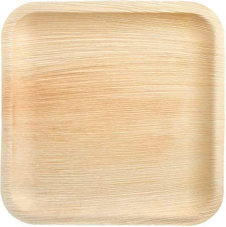 Export Quality Areca Leaf Eco Friendly Disposables Plates  Pack of 25 pcs   8 #34; Square