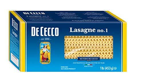 De Cecco Semolina Pasta, Lasagne No.1, 1 Pound