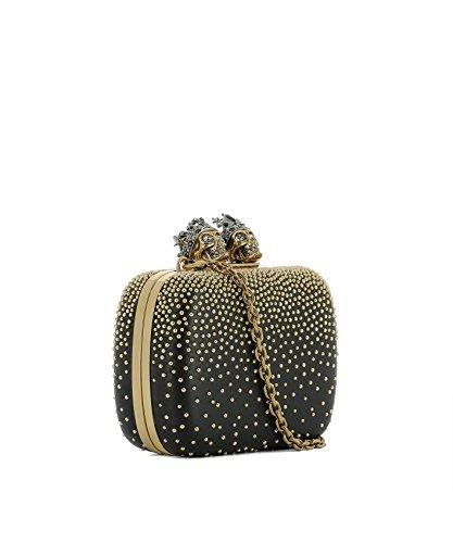 Femme McQueen Alexander Cuir 480497DP6SZ1000 Pochette Noir Or d5qySqA