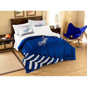 The Northwest Company MLB Los Angeles Dodgers Applique Comforter with Pillow Shams, Twin/Full, Multi-Colored