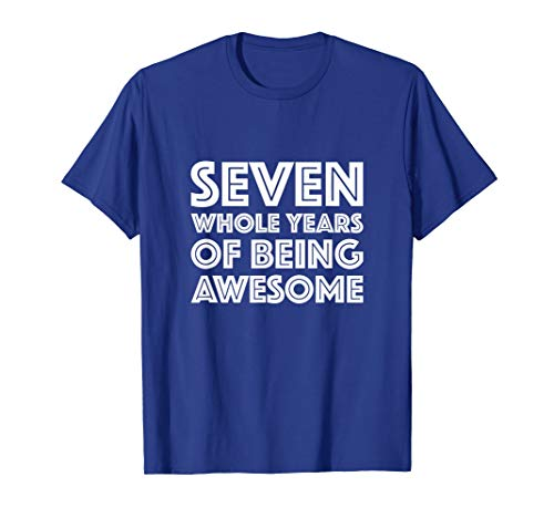 7th Birthday Shirt Gift Girl Boy Age 7 Seven Year Old Girls