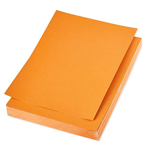 Shimmer Paper - 96-Pack Orange Metallic Cardstock Paper, Double Sided, Laser Printer Friendly - Perfect for Weddings, Baby Showers, Birthdays, Craft Use, Letter Size Sheets, 8.7 x 0.03 x 11 Inches