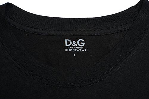Dolce & Gabbana D&G Underwear Men's Black Basic T-Shirt US S IT 48