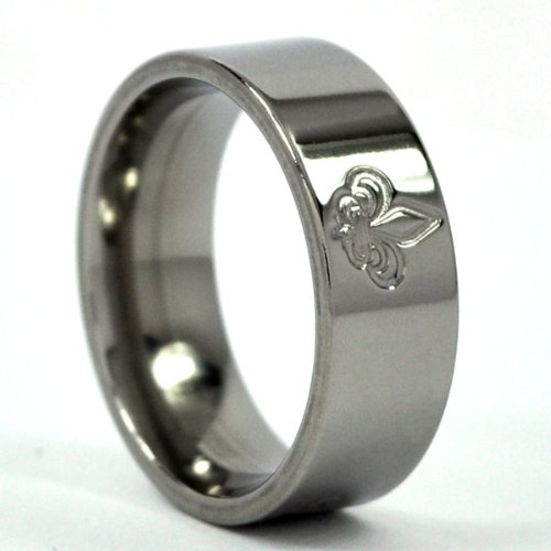New Titanium Ring ''Fleur-de-Lis'' Bands Jewelry, NFL Rings, Saints Ring