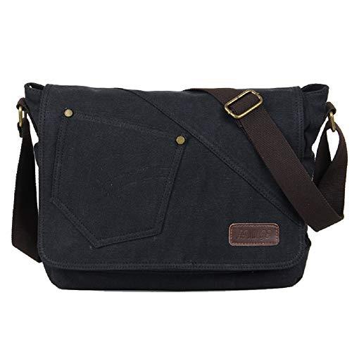 Tableta Bag Compartimento de Hombro Hombres ZHRUI Bolsa School Middle Negro para Pequeña Bag Leisure con y Negro Mujeres para qFFp7vWC
