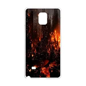 Unique Design Cases Samsung Galaxy Note 4 N9108 Cell Phone Case White hive city warhammer game Jokha Printed Cover Protector