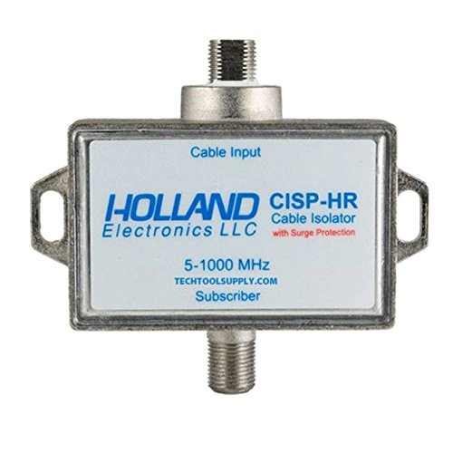 Ground Loop Isolator for Cable TV applications With Surge Protection by Holland Electronics