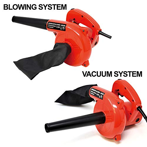 5.0A 6 Speed 13000RPM Corded Electric Leaf Blower Sweeper Va