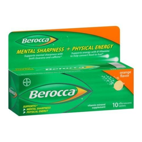 Berocca Performance Orange Effervescent Tablets - 10 per pack - 36 packs per case. by Bayer