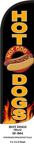 Top Hot Dogs Swooper Feather Flags Banner Sign for cheap