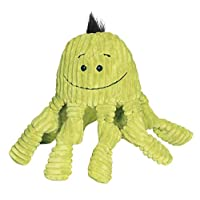 HuggleHounds Plush Corduroy Durable Squeaky Knottie, Dog Toy, Great Dog Toys  for Aggressive Chewers, Octopus, Large